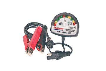 OptiMate TEST – Cranking & Alternator, 12V tester for battery state of charge, cranking performance and vehicle chargi