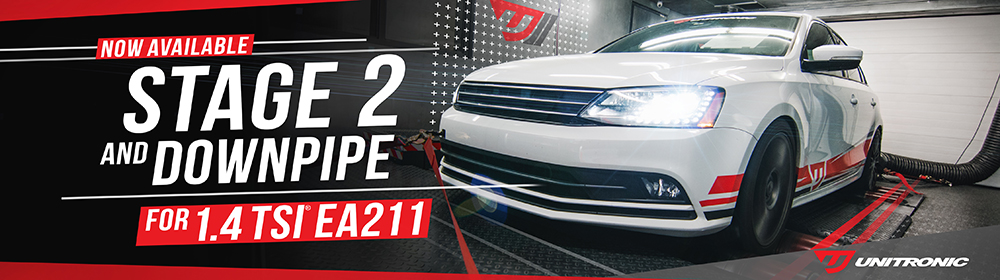"Unitronic 3"" Downpipe & Stage 2 Performance Software for 1.4TSI EA211 Release"