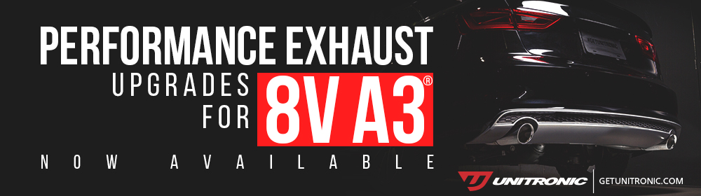 Unitronic Performance Exhaust Upgrades for 8V Audi® A3®