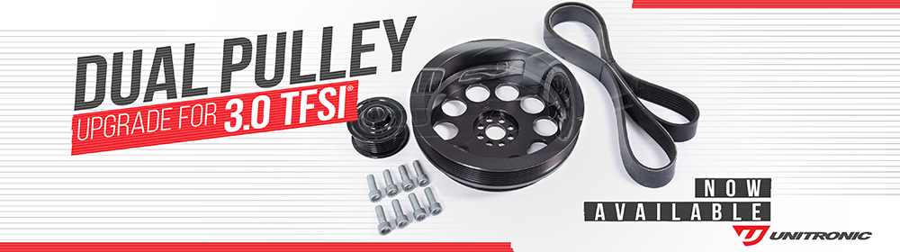 Unitronic Stage 3 Dual Pulley Upgrade Kit for 3.0 TFSI - Now Available