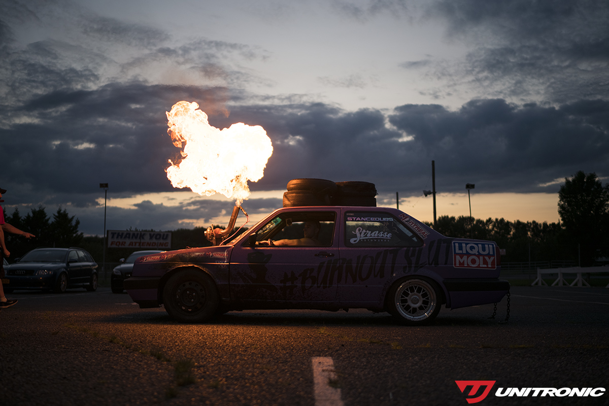 Burnout car at Afterfest by Unitronic
