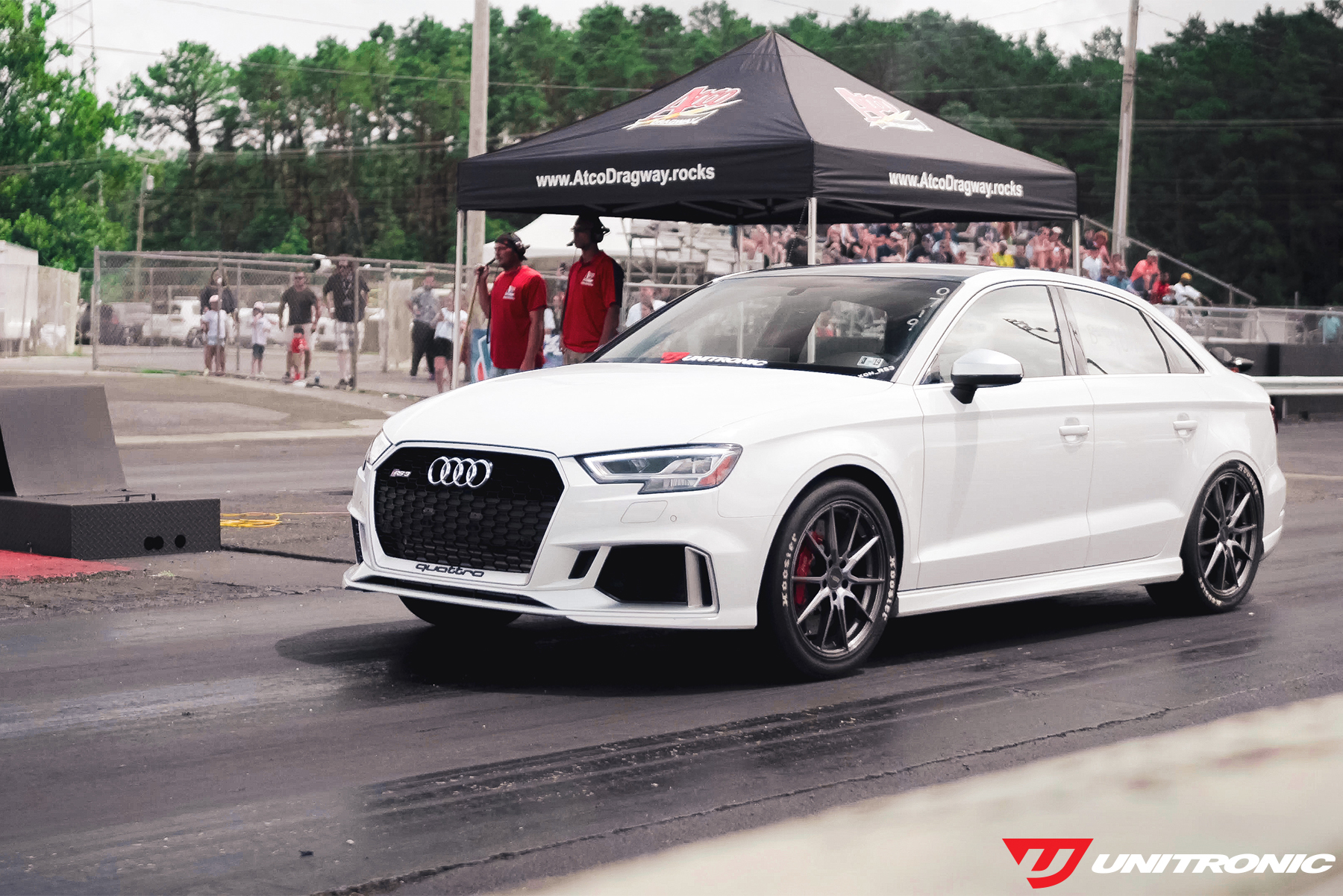 Brian's Unitronic RS3 at the dragstrip
